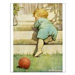 Toddler With A Ball Small Poster