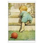 Toddler With A Ball Large Poster