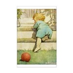 Toddler With A Ball Mini Poster Print