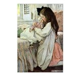 Little Girl With Her Doll Postcards (Package of 8)