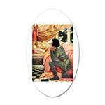 Sleeping Beauty 20x12 Oval Wall Decal