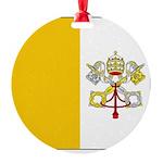 Vaticanblank Round Ornament