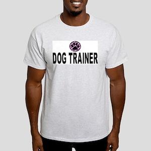 Dog Trainer Purple Stripes Ash Grey T-Shirt