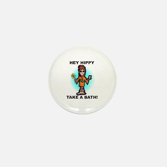 Hey Hippy Take a Bath Mini Button