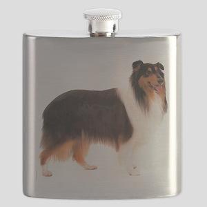CollieBlackStriped Flask
