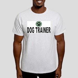 Dog Trainer Green Stripes Ash Grey T-Shirt