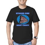 Steaks are Meat Candy Men's Fitted T-Shirt (dark)