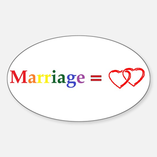 Cute Support gay marriage Sticker (Oval)