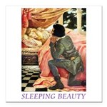 Sleeping Beauty Square Car Magnet 3