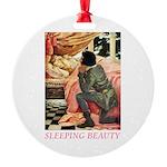 Sleeping Beauty Round Ornament