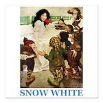 Snow White Square Car Magnet 3