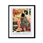 Sleeping Beauty Framed Panel Print