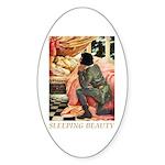 Sleeping Beauty Sticker (Oval)