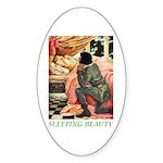 Sleeping Beauty Sticker (Oval 10 pk)