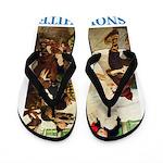 Snow White Flip Flops