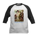 Snow White Kids Baseball Jersey