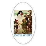 Snow White Sticker (Oval 50 pk)