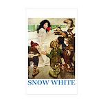 Snow White Sticker (Rectangle 50 pk)