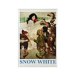 Snow White Rectangle Magnet (10 pack)