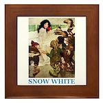 Snow White Framed Tile