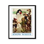 Snow White Framed Panel Print