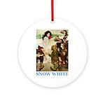 Snow White Ornament (Round)