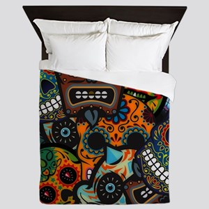 Day of the Dead Queen Duvet