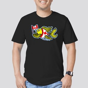 Canadian Flag Fish Men's Fitted T-Shirt (dark)