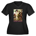 Snow White Women's Plus Size V-Neck Dark T-Shirt