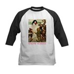 Snow White Kids Baseball Jersey