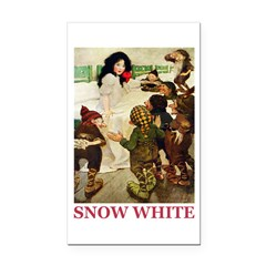 Snow White Rectangle Car Magnet