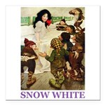Snow White Square Car Magnet 3