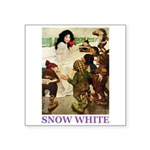 Snow White Square Sticker 3