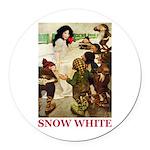 Snow White Round Car Magnet