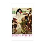 Snow White Sticker (Rectangle 10 pk)