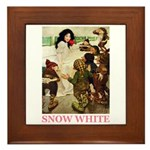 Snow White Framed Tile