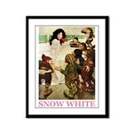 Snow White Framed Panel Print