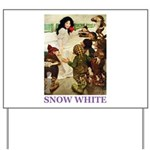 Snow White Yard Sign