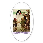 Snow White Sticker (Oval 10 pk)