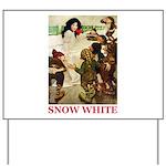 Snow White Yard Sign