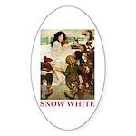 Snow White Sticker (Oval 10 pk)