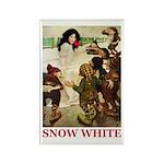 Snow White Rectangle Magnet (100 pack)
