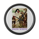 Snow White Large Wall Clock
