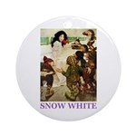 Snow White Ornament (Round)