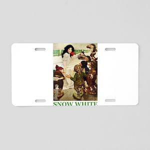 Snow White Aluminum License Plate