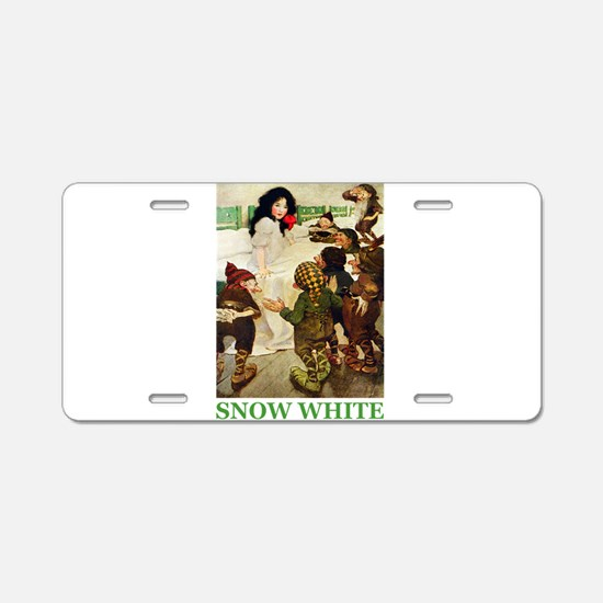 Snow White Aluminum License Plate