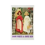 Snow White & Rose Red Rectangle Magnet (100 pack)