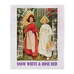 Snow White & Rose Red Throw Blanket