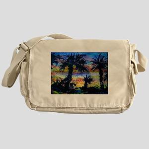 Palm trees! Nature art! Messenger Bag