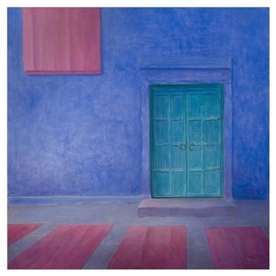 Green Door Jodhpur, 2010 (acrylic on canvas) Poster